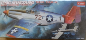 ACADEMY 1/72 2225 P-51C MUSTANG RED TAILS