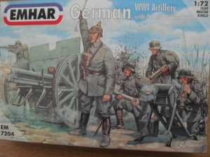 EMHAR 1/72 7204 WWI GERMAN ARTILLERY