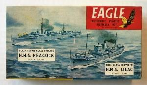 EAGLEWALL 1/1200 HMS PEACOCK   HMS LILAC