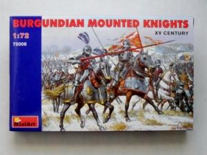 MINIART 1/72 72006 BURGUNDIAN MOUNTED KNIGHTS XV CENTURY