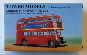 TOWER MODELS 1/76 TB6 LONDON TRANSPORT RTL BUS