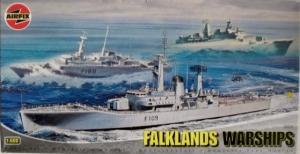 AIRFIX 1/600 05205 FALKLANDS WARSHIPS HMS LEANDER AMAZON DEVONSHIRE