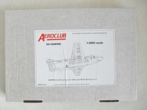 AEROCLUB 1/48 DH VAMPIRE FB.5/9 NF.10 T.11 - NO DECALS INCLUDED