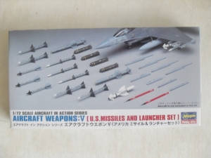 HASEGAWA 1/72 X72-9 AIRCRAFT WEAPONS V US MISSILES   LAUNCHER SET