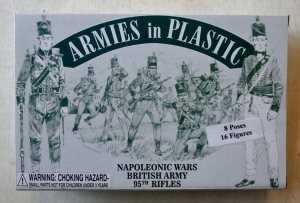 ARMIES IN PLASTIC 1/32 5503 NAPOLEONIC WARS BRITISH ARMY 95th RIFLES