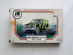 JB MODELS 1/76 1001 LWB LANDROVER SOFT TOP