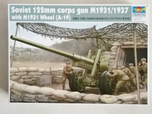 TRUMPETER 1/35 02316 SOVIET 122mm CORPS GUN M1931/1937 WITH M1931 WHEEL  A19