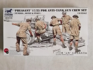 BRONCO 1/35 35135 PHEASANT 17/25 pdr ANTI-TANK GUN CREW SET
