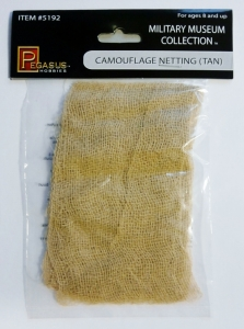 PEGASUS HOBBIES  5192 CAMOUFLAGE NETTING  TAN