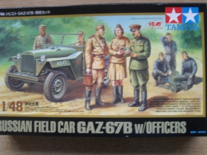 TAMIYA 1/48 89767 GAZ-67B w/OFFICERS