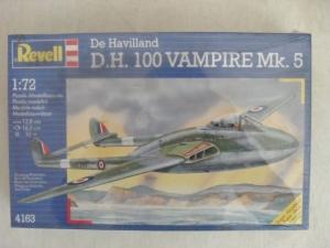REVELL 1/72 4163 De HAVILLAND D.H.100 VAMPIRE Mk.5