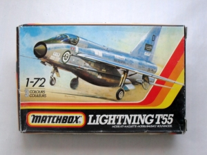 MATCHBOX 1/72 PK-126 LIGHTNING T55