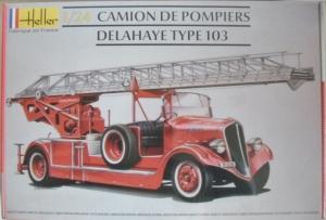 HELLER 1/24 80780 CAMION DE POMPIERS DELAHAYE TYPE 103