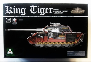 TAKOM 1/35 2046 KING TIGER PORSCHE TURRET W/ZIMMERIT   INTERIOR