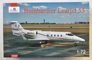 A MODEL 1/72 72347 BOMBADIER LEARJET 55