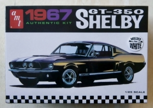 AMT 1/25 800 1967 GT-350 SHELBY MOULDED IN WHITE
