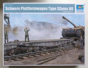 TRUMPETER 1/35 00221 SCHWERE PLATTFORMAWAGEN TYPE SSyms 80
