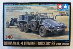 TAMIYA 1/48 32580 GERMAN 6x4 TOWING TRUCK Kfz.69 w/3.7cm PAK
