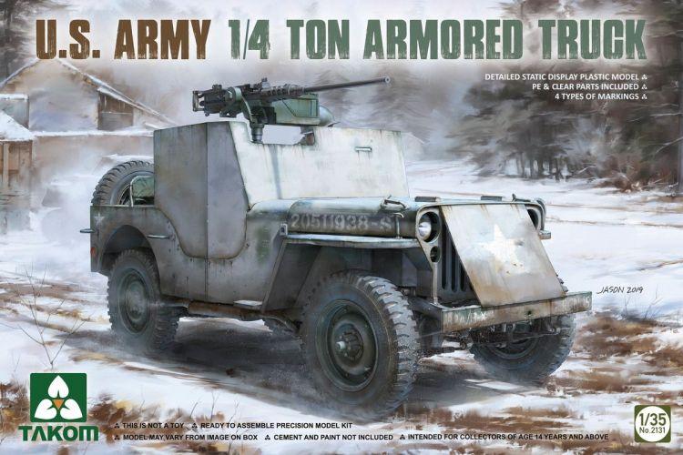 TAKOM 1/35 2131 U.S. ARMY 1/4 TON ARMOURED TRUCK