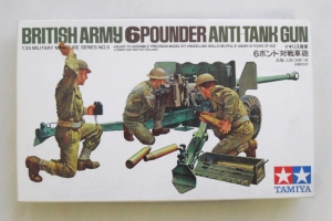 TAMIYA 1/35 35005 BRITISH 6 POUNDER ANTI-TANK GUN