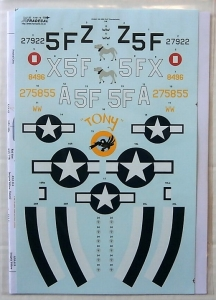 XTRADECAL 1/48 48116 USAAC 5th ERS P-47 THUNDERBOLTS