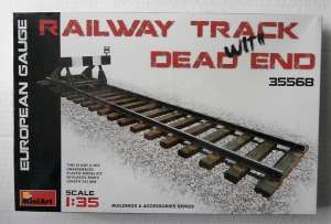 MINIART 1/35 35568 RAILWAY TRACK w/DEAD END