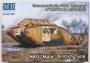MASTERBOX 1/72 72001 Mk.I MALE BRITISH TANK SOMME BATTLE