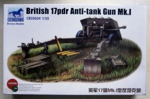BRONCO 1/35 35024 BRITISH 17 pdr ANTI-TANK GUN Mk.I