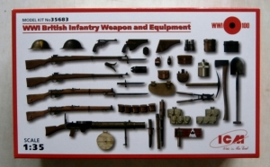 ICM 1/35 35683 WWI BRITISH INFANTRY WEAPONS   EQUIPMENT
