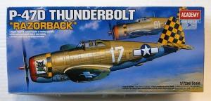 ACADEMY 1/72 2175 P-47D THUNDERBOLT RAZORBACK