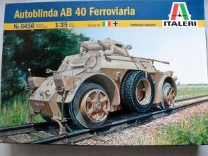ITALERI 1/35 6456 AUTOBLINDA AB 40 FERROVIARIA