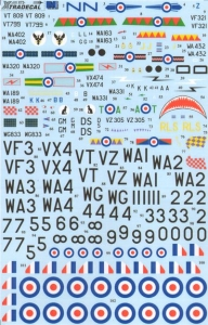 XTRADECAL 1/72 72191 DE HAVILLAND DH100 VAMPIRE FB.3/5