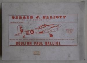 GERALD J ELLIOTT 1/72 BOULTON PAUL BALLIOL