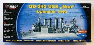MIRAGE 1/400 40604 DD-343 USS NOA