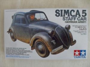 TAMIYA 1/35 35321 SIMCA 5 GERMAN ARMY STAFF CAR