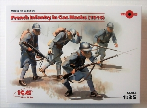 ICM 1/35 35696 FRENCH INFANTRY IN GAS MASKS 1916