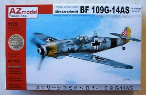 AZ MODEL 1/72 7522 MESSERSCHMITT Bf 109G-14AS IN FOREIGN SERVICE