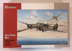 SPECIAL HOBBY 1/72 72074 AVRO ANSON Mk.I LATE VERSION RAF SERVICE