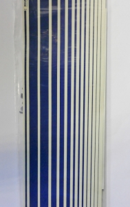 SCALE-MASTER  1052. SS5W STRIPES BLUE 0.35 TO 0.01 INCH
