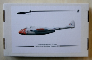 CZECH MASTER RESIN 1/72 212 DE HAVILLAND VAMPIRE F.3