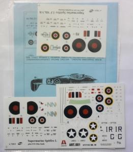 0 1/72 1002. 72015 72013 SUPERMARINE SPITFIRE LF MK.IXC LF MK.VB