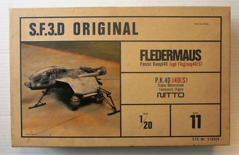 NITTO 1/20 24113 S.F.3.D ORIGINAL FLEDERMAUS PANZER KAMPF40 JAGD FLUGZEUG40 S