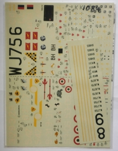 MODELDECAL 1/72 1084. 85 ROYAL AIRFORCE CANBERRAS E.15  ITALIAN A.F F-104 STARFIGHTERS STORMOS