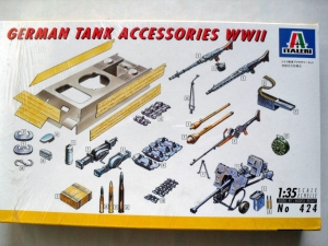ITALERI 1/35 6424 GERMAN TANK ACCESSORIES WWII