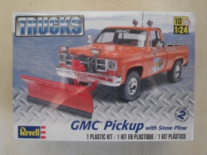 REVELL 1/24 7222 GMC PICK UP WITH SNOW PLOW