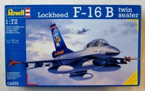 REVELL 1/72 04355 LOCKHEED F-16B TWIN SEATER