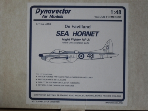 DYNAVECTOR 1/48 4808 DE HAVILLAND SEA HORNET NF-21