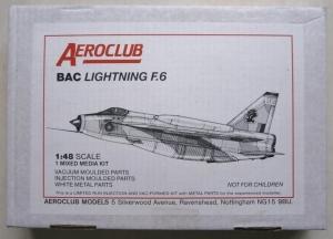 AEROCLUB 1/48 BAC LIGHTNING F.6