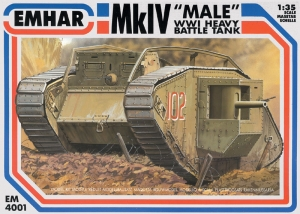 EMHAR 1/35 4001 Mk.IV MALE WWI HEAVY BATTLE TANK