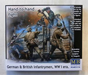 MASTERBOX 1/35 35116 HAND TO HAND FIGHT GERMAN   BRITISH INFANTRYMEN WWI
